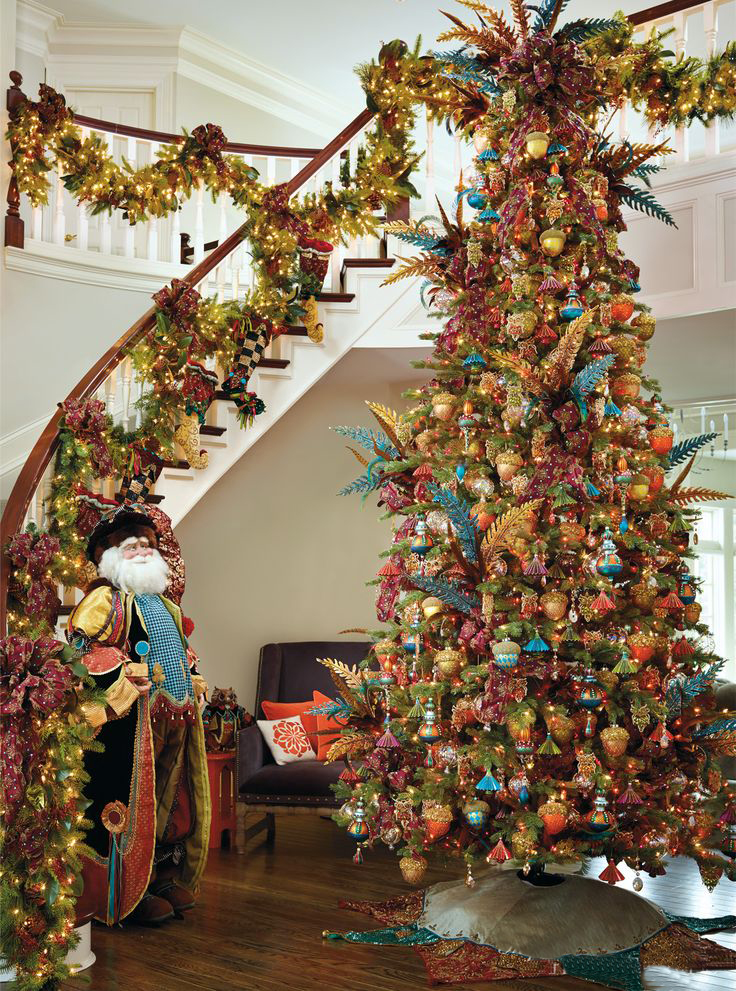 Christmas Staircase Decorations19