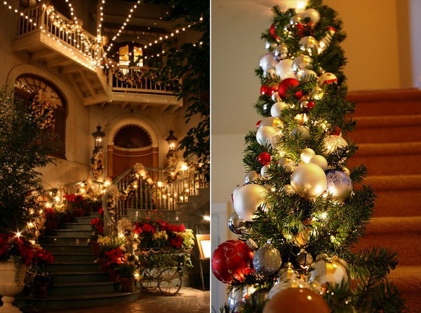 Christmas Staircase Decorations20