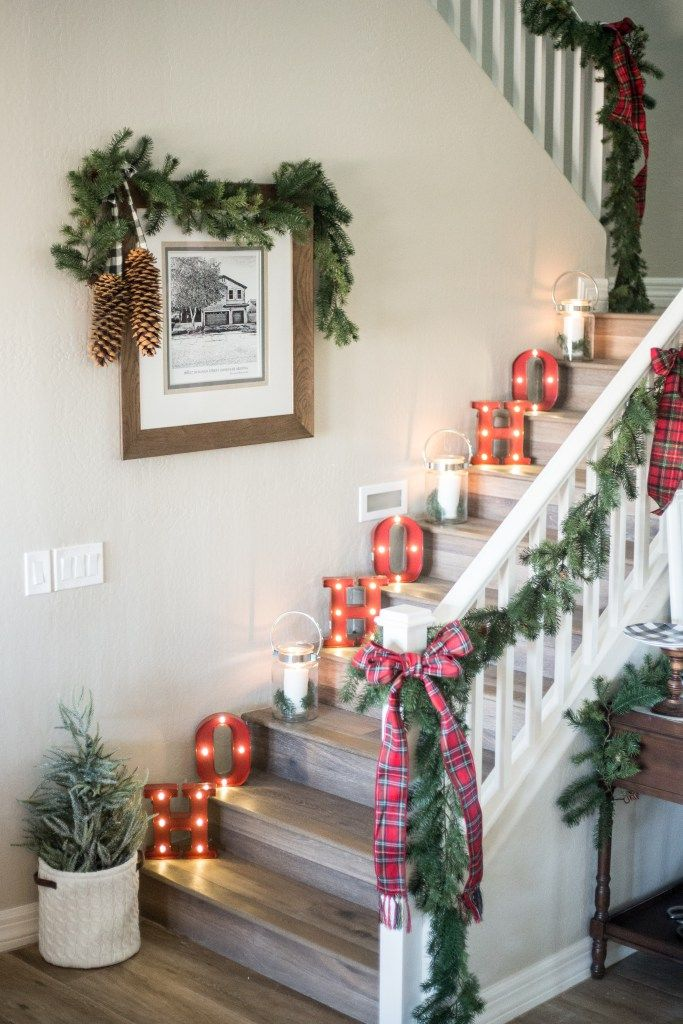 christmas staircase decorations8