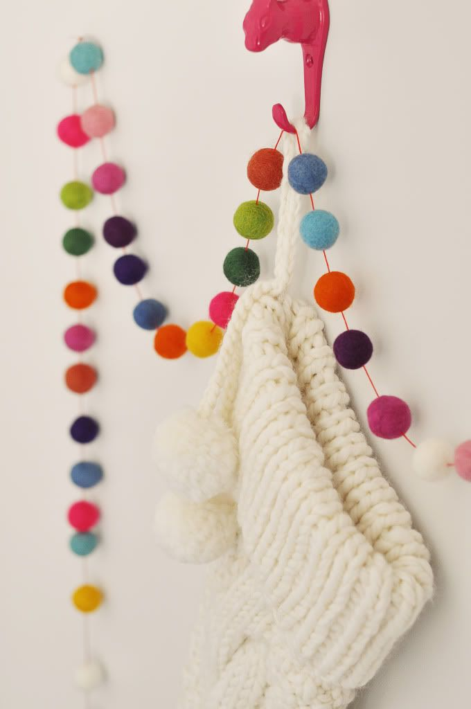 Pom Pom Garlands for Christmas1