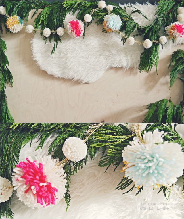 Pom Pom Garlands for Christmas16
