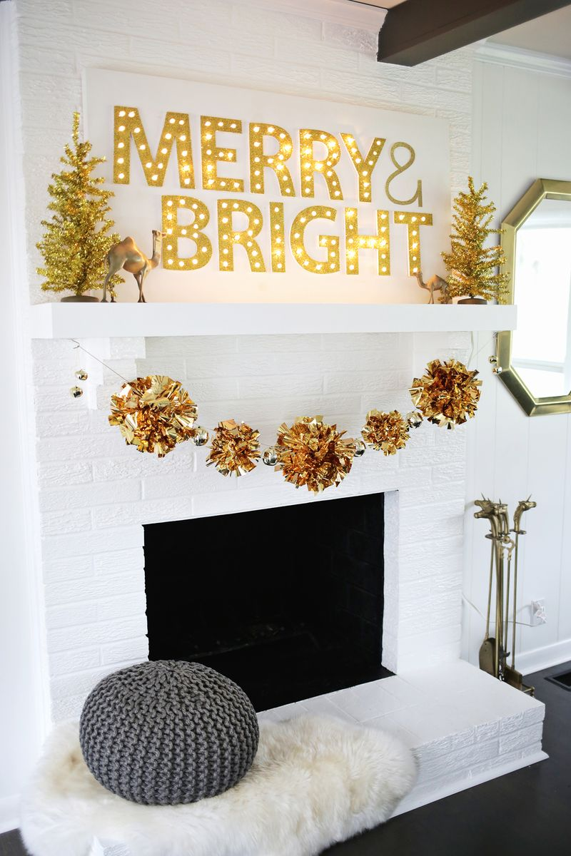 Pom Pom Garlands for Christmas20