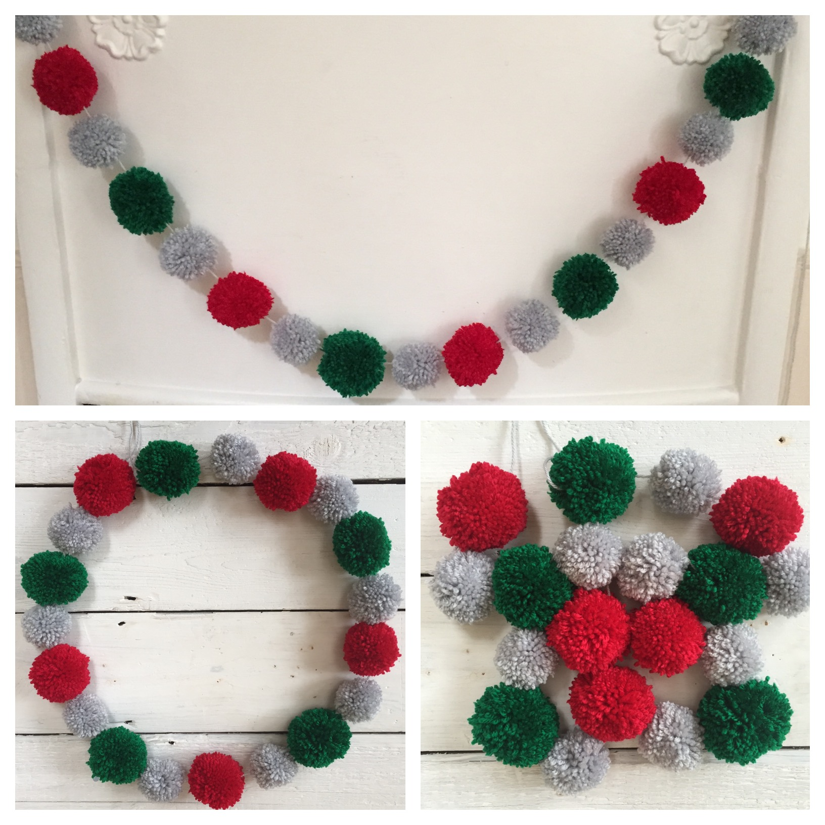 pom pom garlands for christmas4