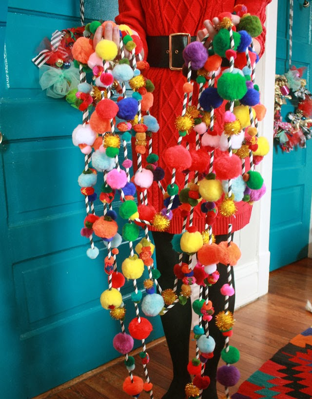 Pom Pom Garlands for Christmas6