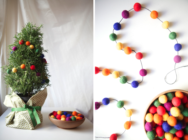 Pom Pom Garlands for Christmas7