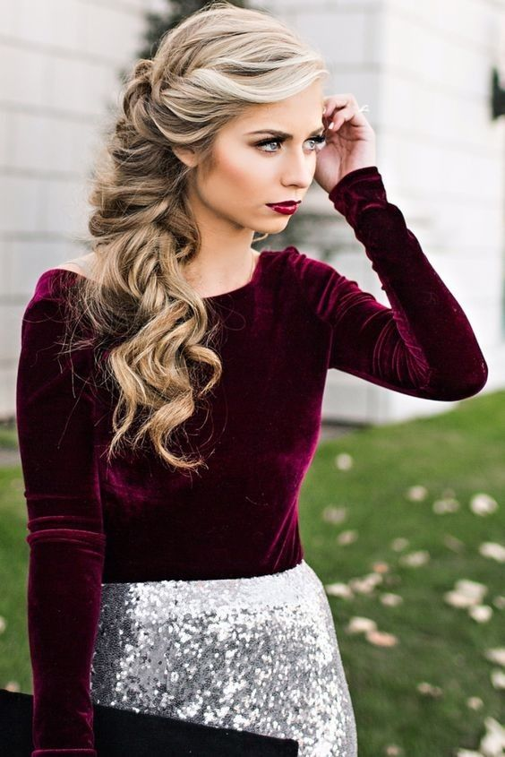 Wonderful Hairstyle for Christmas and Holidays6