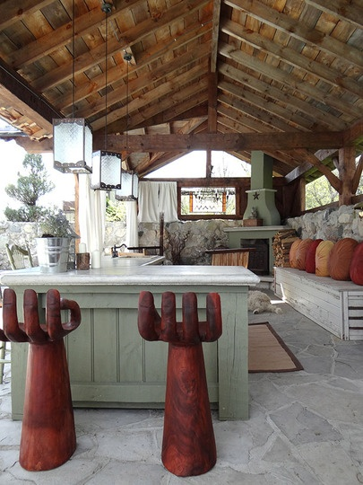 Barn Wood Outdoor Kitchen