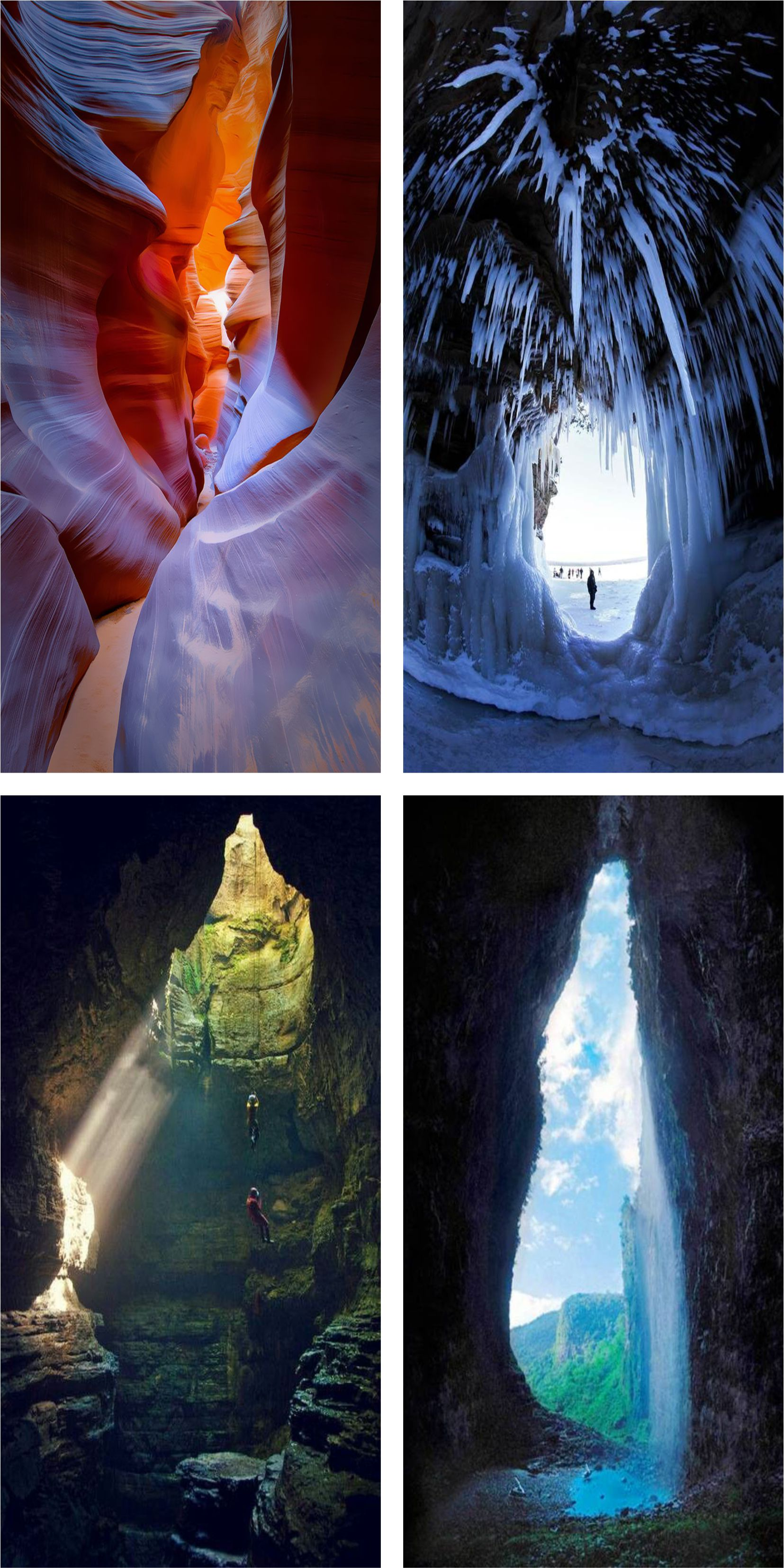 Breathtaking caves on world