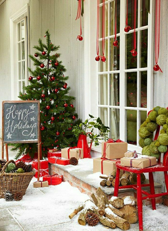 CHRISTMAS FRONT PORCH DECORATIONS7