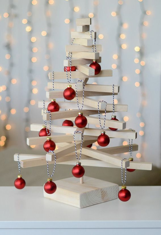 Modern Wooden Christmas Trees13