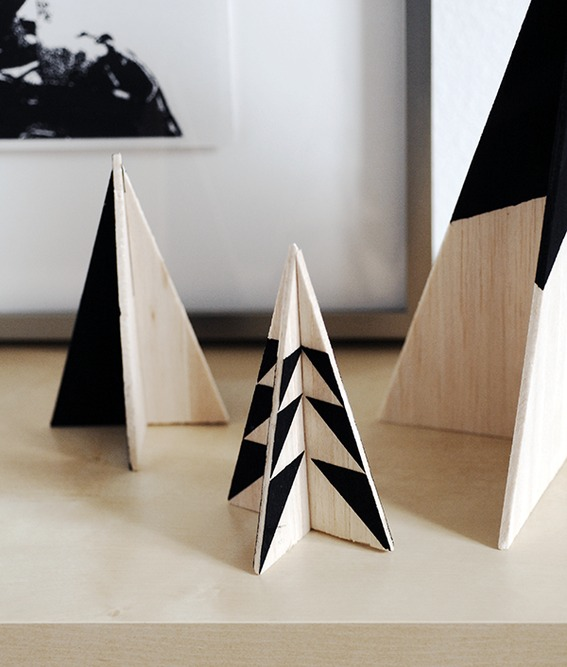 Modern Wooden Christmas Trees14