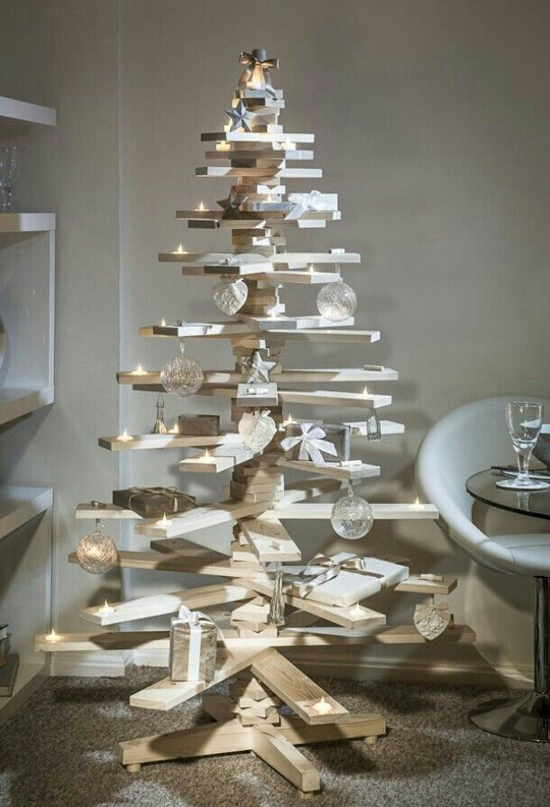 Modern Wooden Christmas Trees17