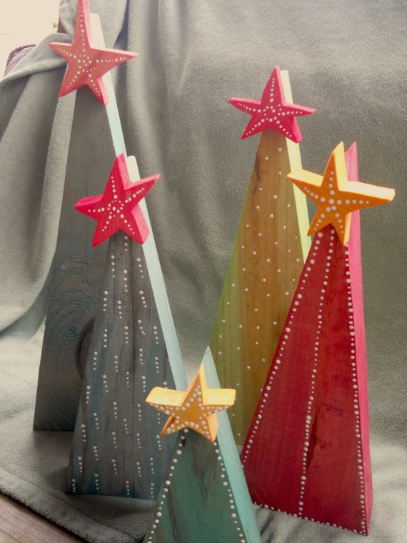 Modern Wooden Christmas Trees21