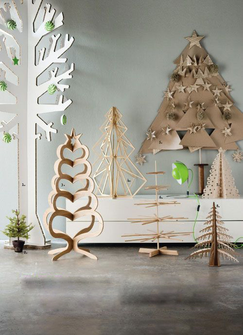 Modern Wooden Christmas Trees25