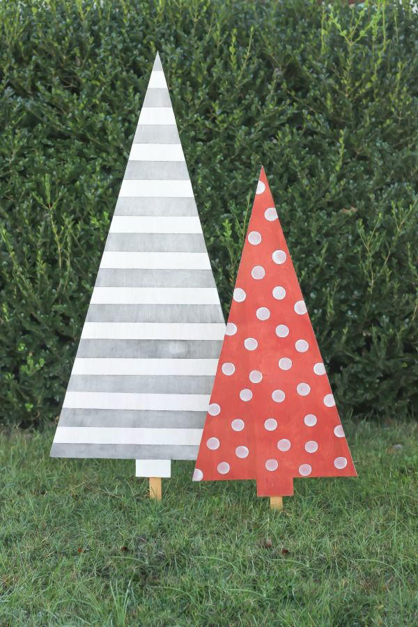 Modern Wooden Christmas Trees33