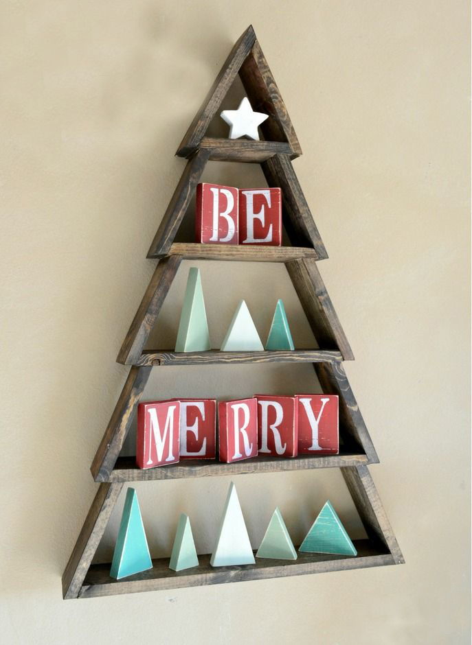 Modern Wooden Christmas Trees43