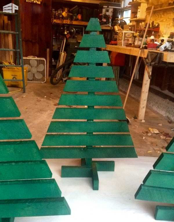Modern Wooden Christmas Trees45
