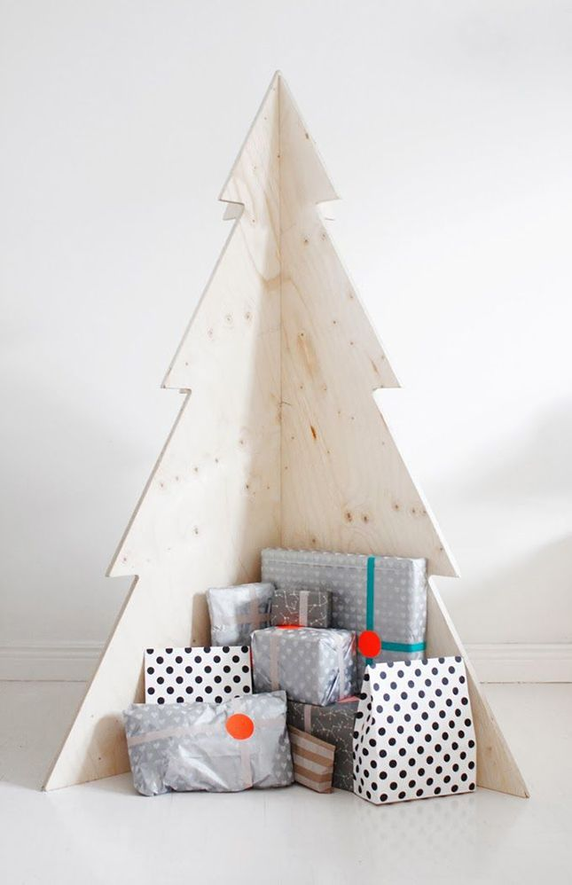 Modern Wooden Christmas Trees9