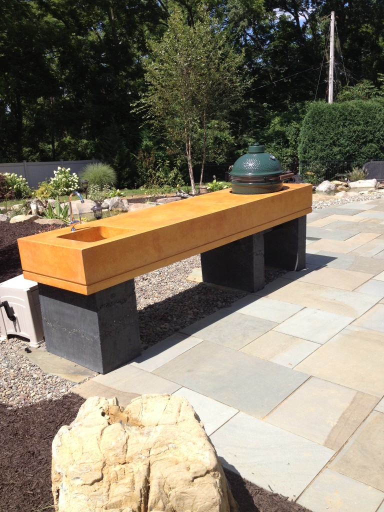 Outdoor Living Areas with Fire Pit Kitchen