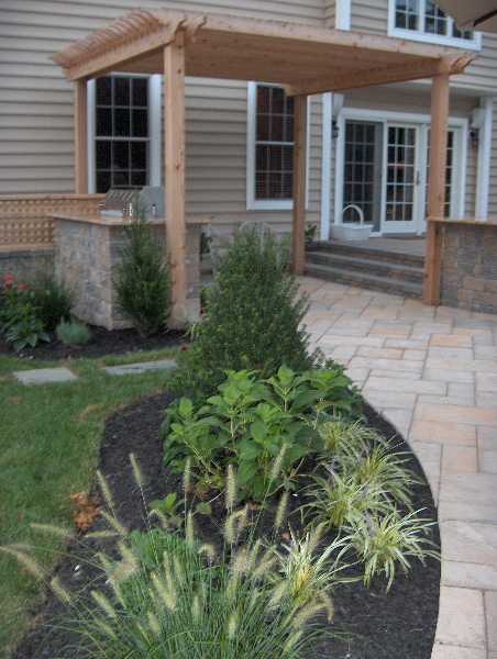 Outdoor Living Space with Pavers