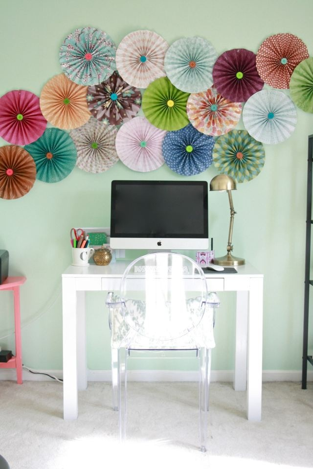 Pinwheels DIY wall ideas