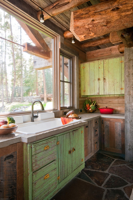 Rustic Cabin Kitchen Sink