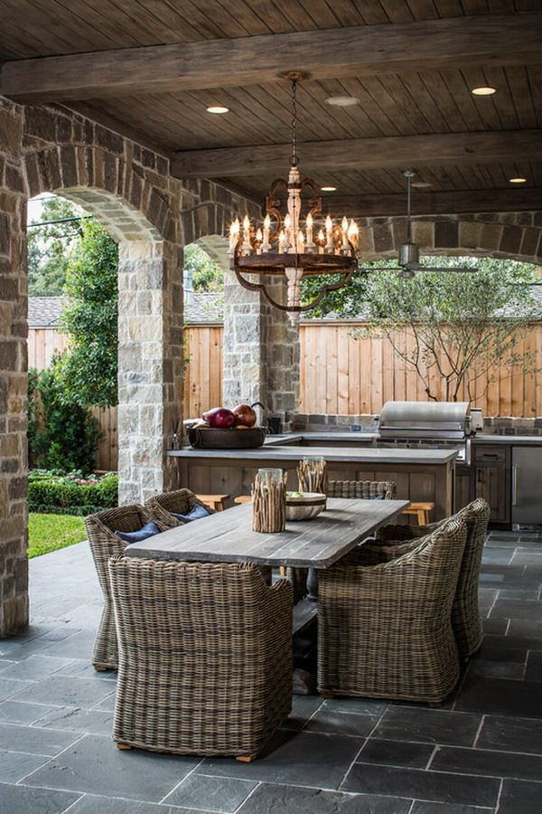 Rustic Outdoor Kitchens and Patios