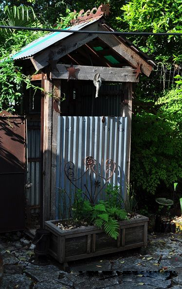 Rustic Outdoor Shower