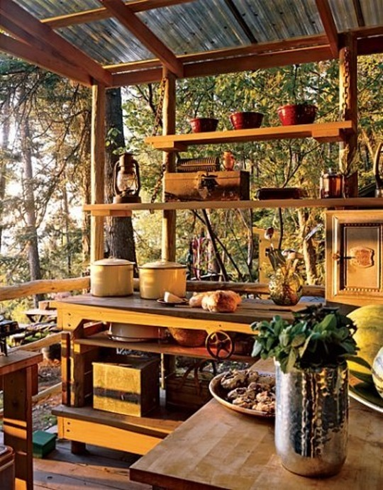 Small Rustic Outdoor Kitchens