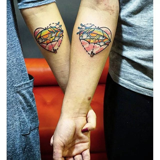 Awesome couple tattoos inspiration 3