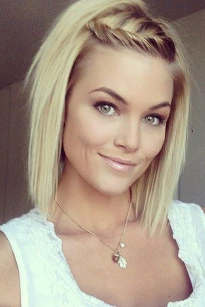 Gorgeous hairstyles for short hair 38