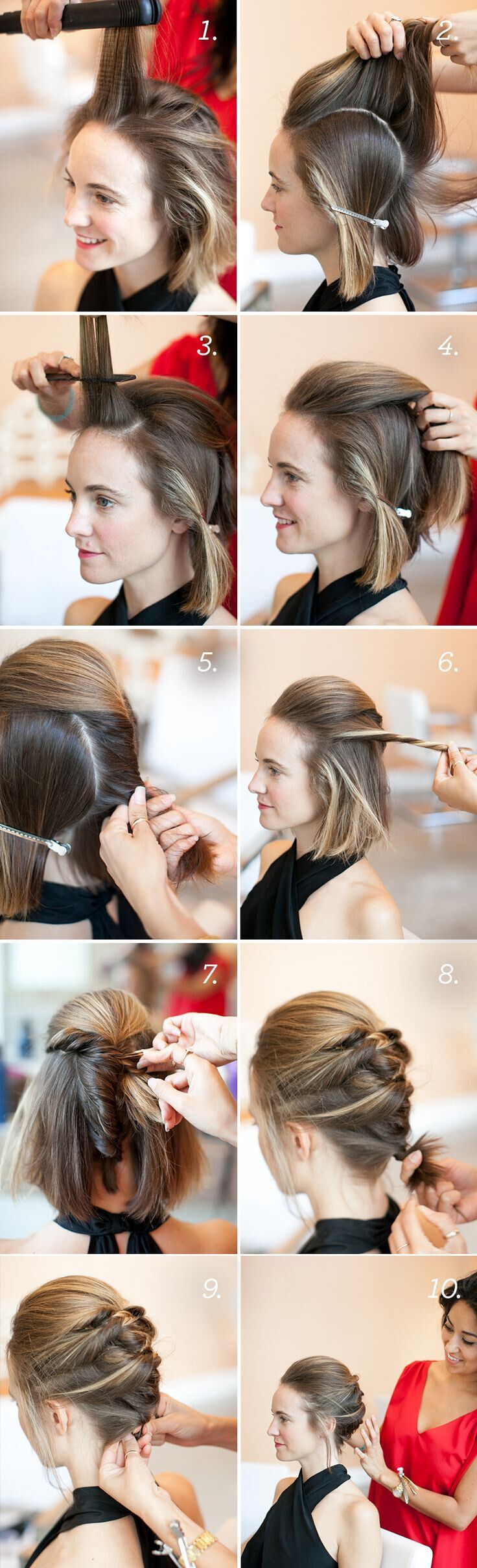 Gorgeous hairstyles for short hair 46