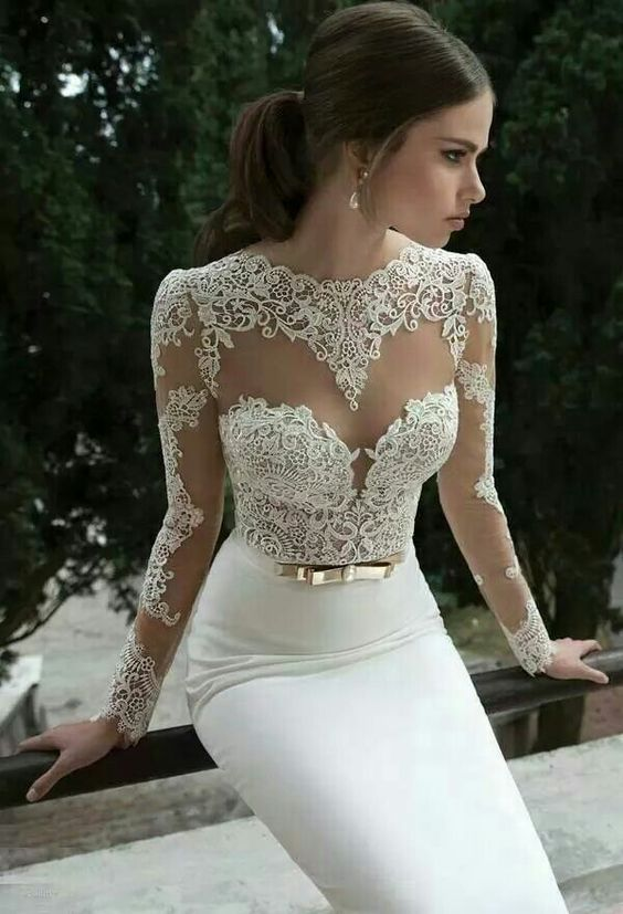 Gorgeous lace wedding dresses 15
