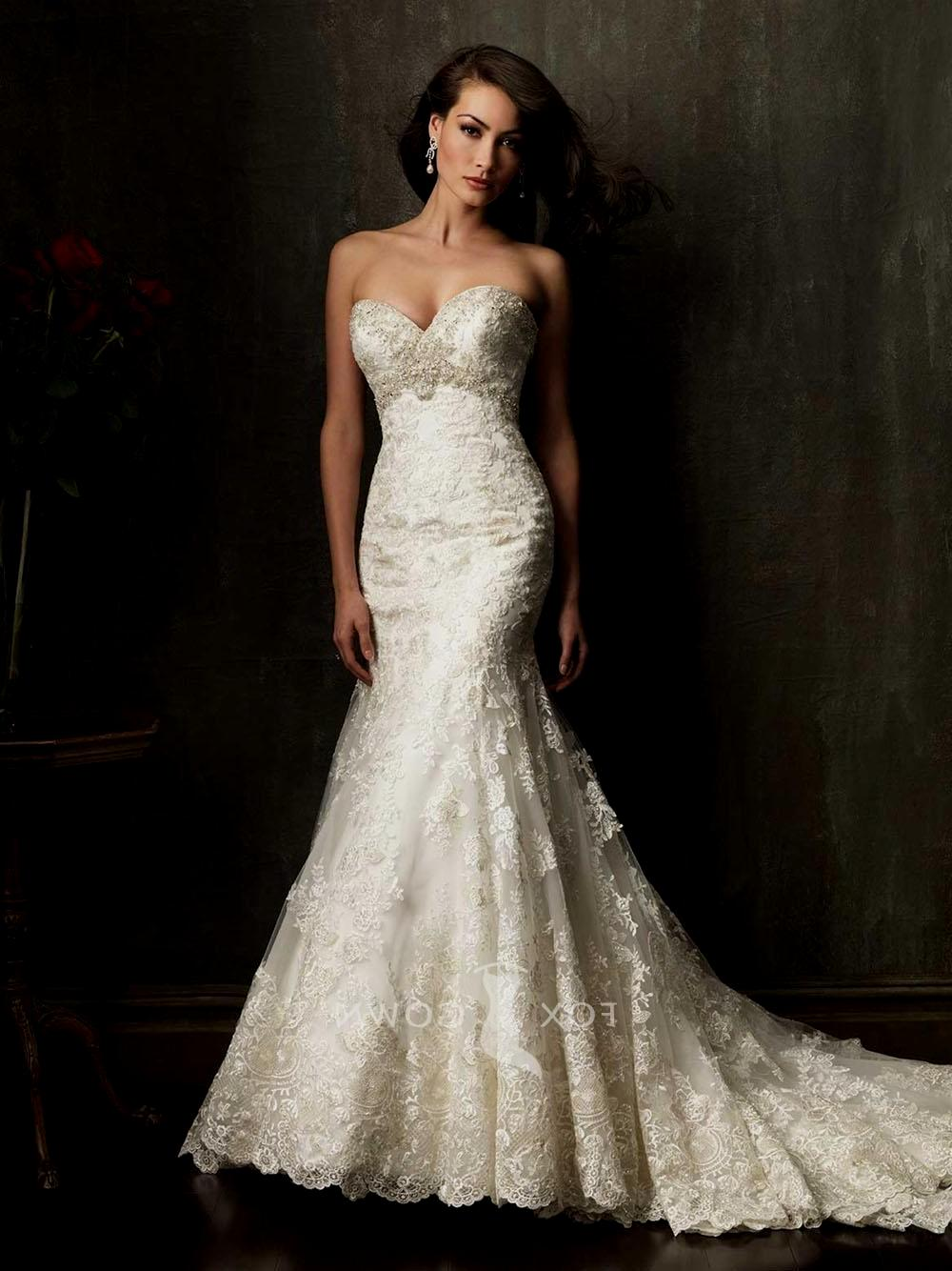 Gorgeous lace wedding dresses 21