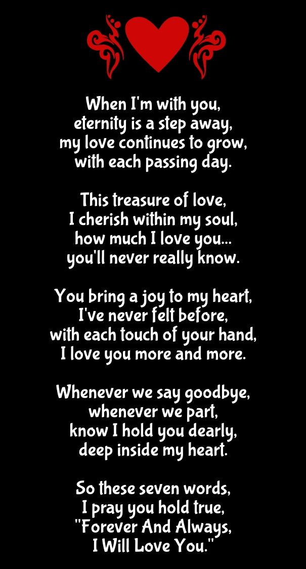 36 Romantic Cute Love Poems Collection I Love You Poems