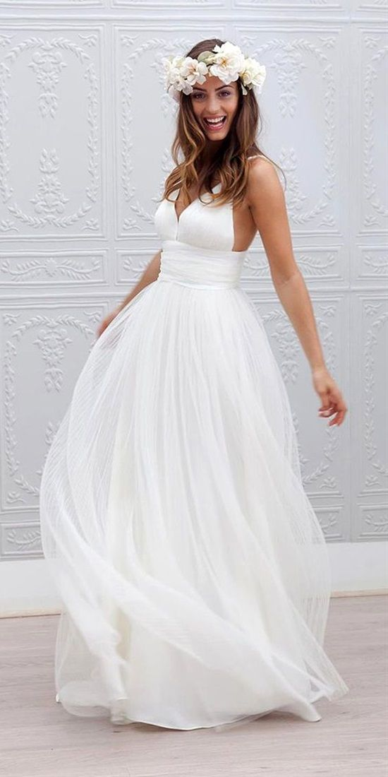 Amazing casual wedding dresses ideas 7