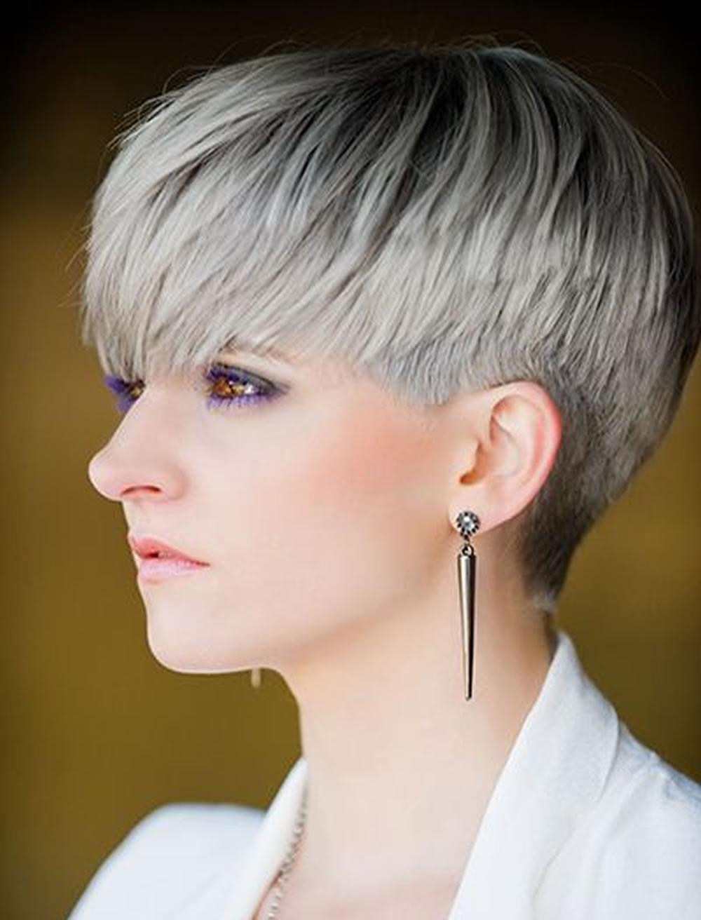 2018 Trend Short Hair Gray Black Ombre Hairstyles