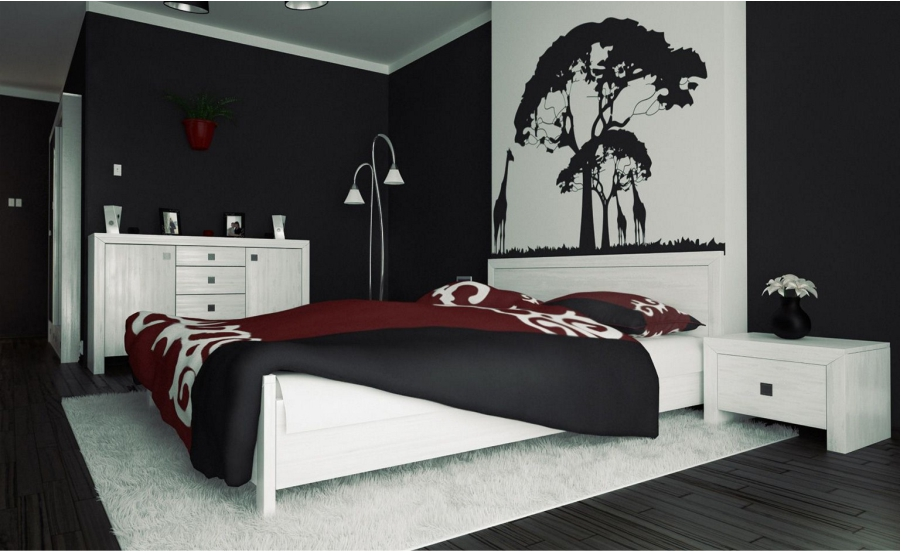 All New Black and white bedroom ideas