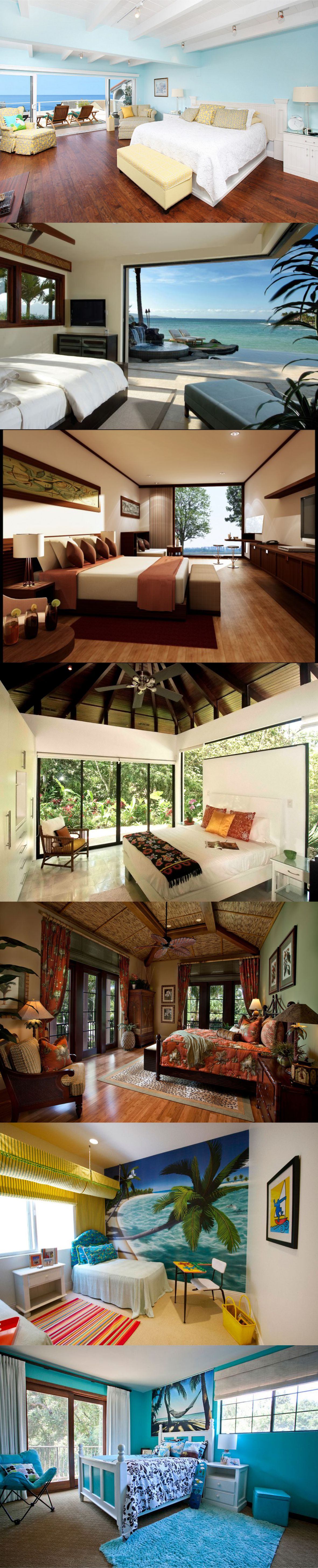 All New Tropical bedroom designs