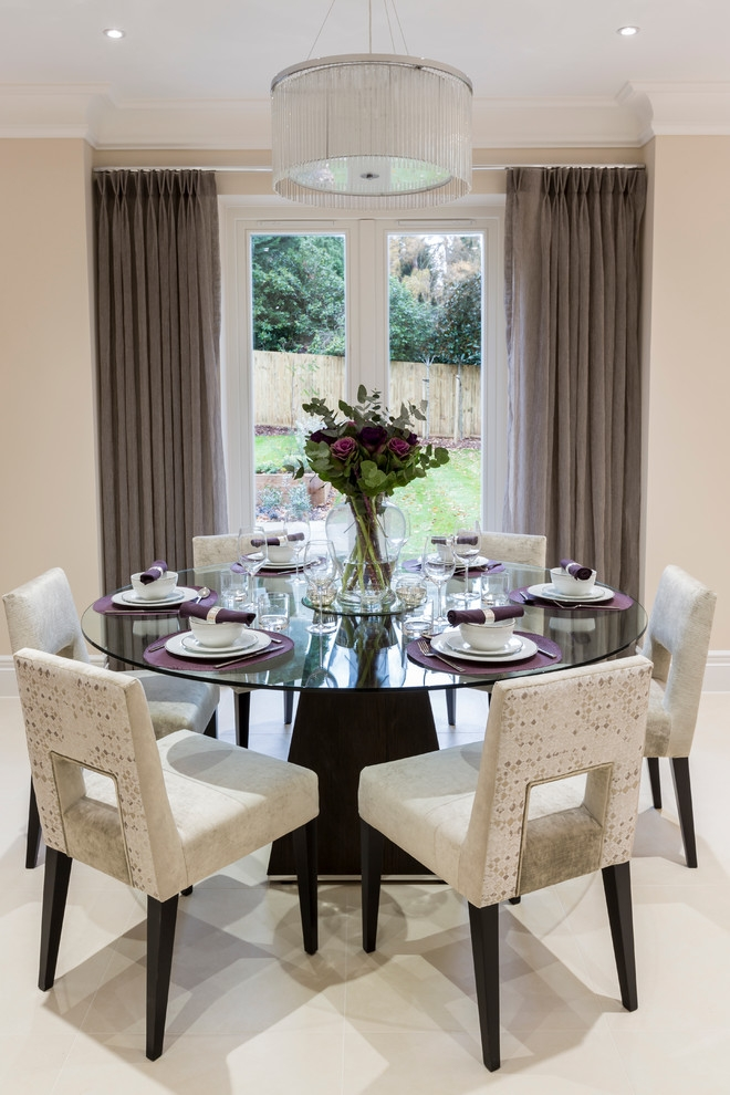 Decorative Dining Room Transitional Design Ideas For French Round Round Dining Room Table Decorating Ideas Round Dining Room Table Decorating Ideas