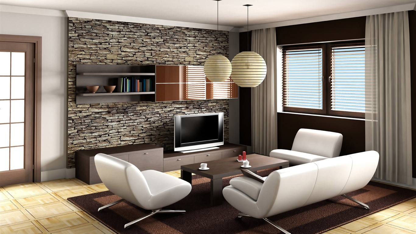 Amazing Best Living Room Wallpapers 5