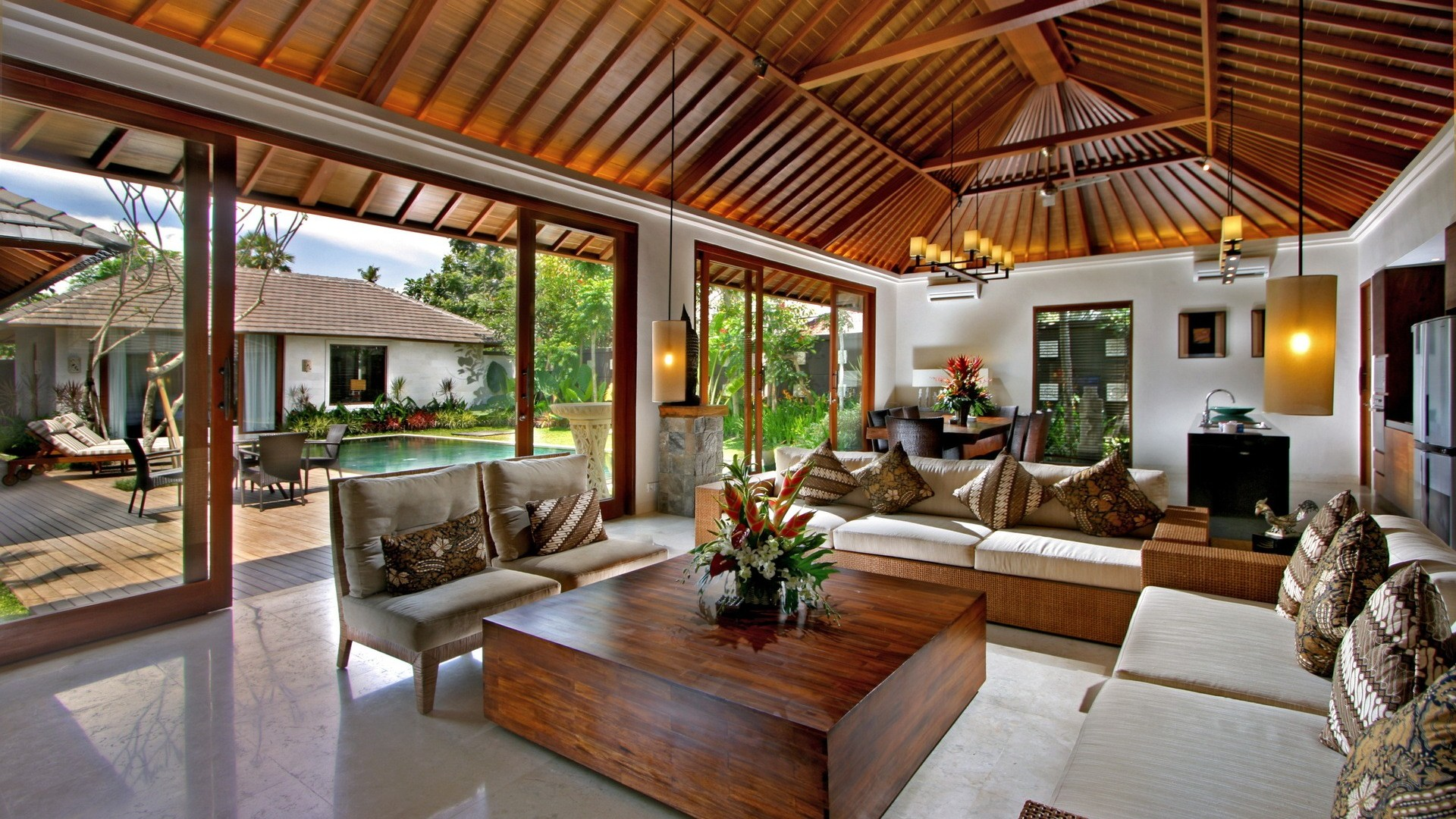 Best Tropical Living Room Designs 27