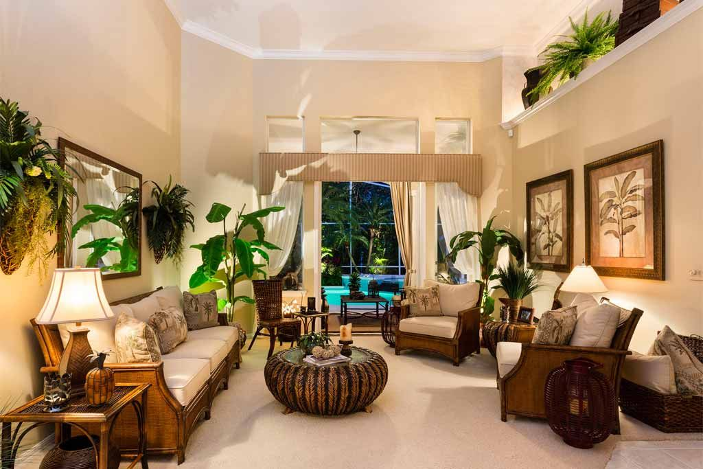 32 Best tropical living room designs