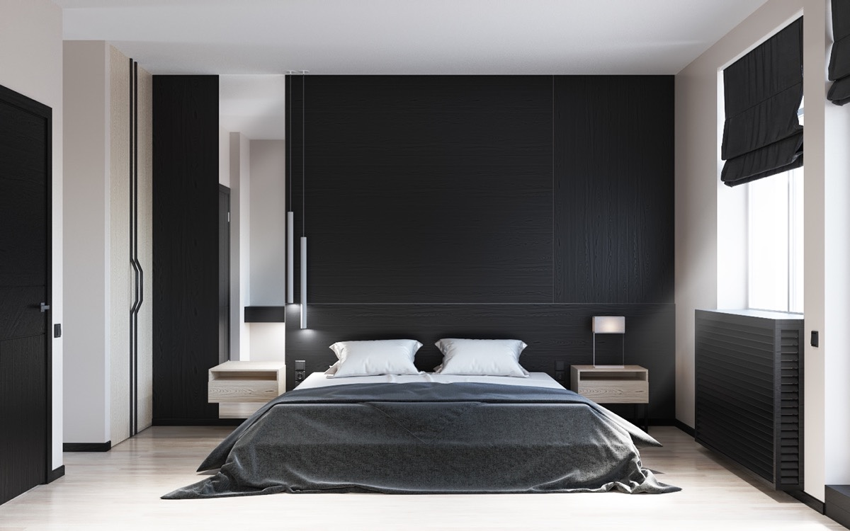 Black and white bedroom ideas 1