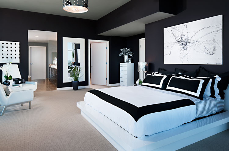 Black and white bedroom ideas 14
