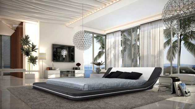 Black and white bedroom ideas 16