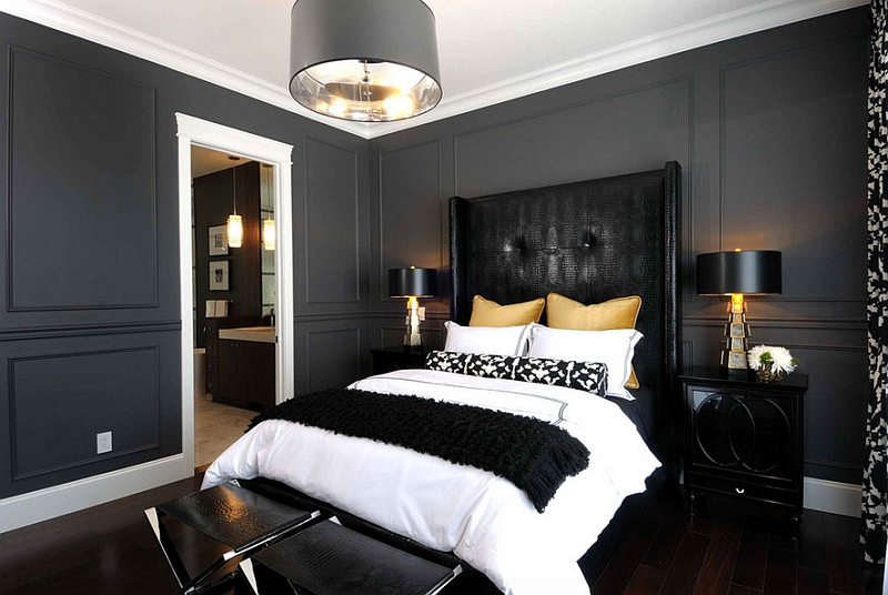 Black and white bedroom ideas 17