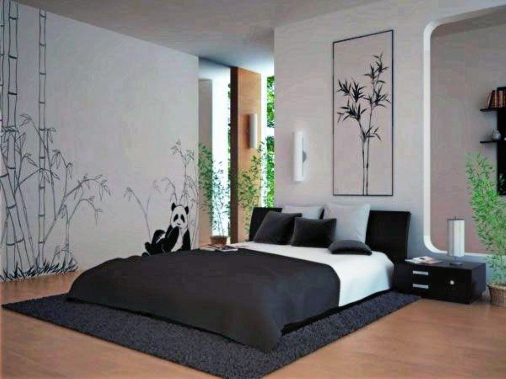Black and white bedroom ideas 23