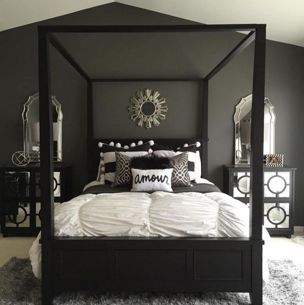 Black and white bedroom ideas 8
