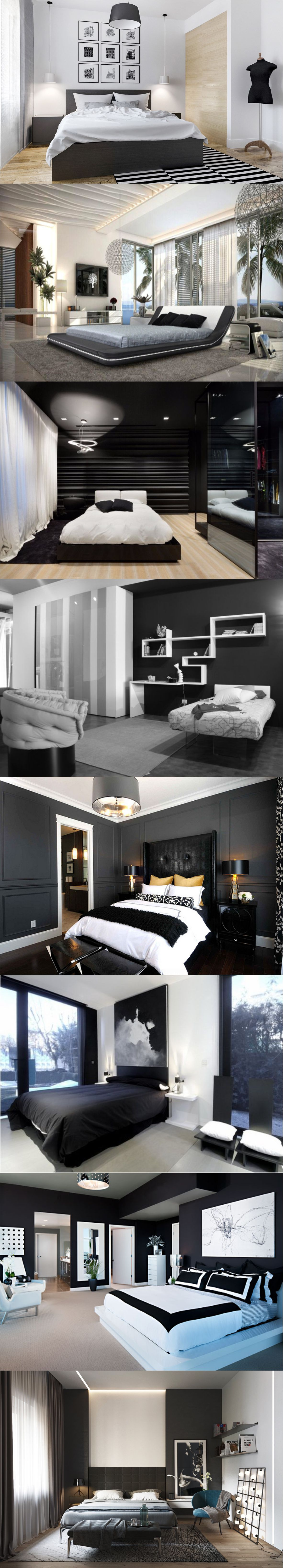 New Black and white bedroom ideas